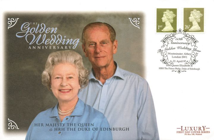 Machins (EP): Gold Definitives: 1st & 26p, The Queen and Duke of Edinburgh