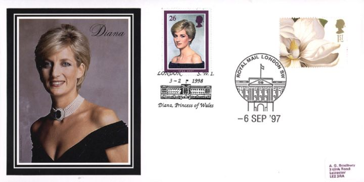 Diana, Princess of Wales, Funeral Day - Magnolia stamp