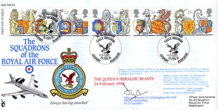 Queen's Beasts, Squadrons of the Royal Air Force