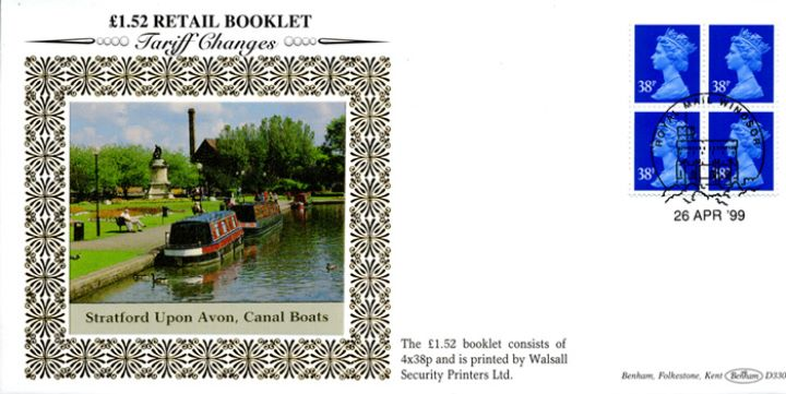 Window: Airmail: £1.52, Canal Boats