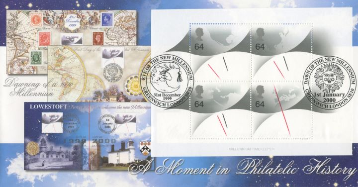 Eve and Dawn of new Millennium, A Moment in Philatelic History