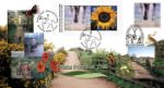 05.09.2000 Window: Pennine Trail & Eden Project Sunflowers Retail Pane Bradbury