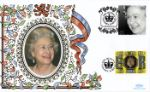06.02.2002 Golden Jubilee Queen wearing pearls Benham, Royalty No.0