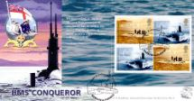 22.10.2001 PSB: Submarines - Pane 1 HMS Conqueror Bradbury, Sovereign No.4