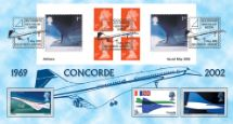 02.05.2002 Self Adhesive: Airliners Concorde Bradbury, Windsor No.18