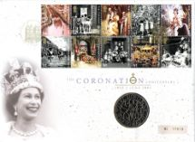 02.06.2003 Coronation 50th Anniversary £5 Coin Cover Royal Mint, Royal Mint/Royal Mail joint issue No.34