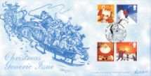 02.11.2004 Christmas: Generic Sheet 2004 Father Christmas & Children on Sleigh Bradbury, Windsor No.48