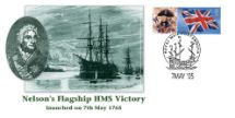 07.05.2005 HMS Victory Portrait of Nelson and his Flagship Bradbury, Anniv and Events No.32