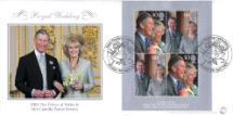 08.04.2005 Royal Wedding: Miniature Sheet Wedding Day Portrait Bradbury, Sovereign No.62