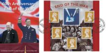 05.07.2005 End of the War: Miniature Sheet King George VI and Winston Churchill Bradbury, Sovereign No.57