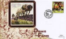 11.01.2005 Farm Animals Horses ploughing field Benham, BS No.384