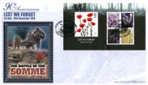 09.11.2006 Lest We Forget 2006: Miniature Sheet Battle of the Somme Benham, BLCS No.343