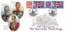 20.01.2006 Year of the Three Kings George V, Edward VIII, and George VI Bradbury, Anniv and Events No.37