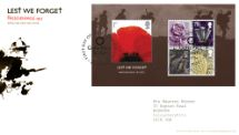 08.11.2007 Lest We Forget 2007: Miniature Sheet Passchendaele Royal Mail/Post Office
