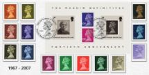 05.06.2007 Machin 40 Years: Miniature Sheet 40th Anniversary Bradbury, Sovereign No.88