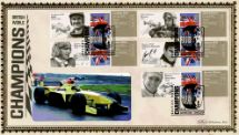 08.07.2010 Grand Prix [Commemorative Sheet] British World Champions Benham, BLCS Special No.32