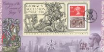08.05.2010 King George V (Overprint): Miniature Sheet George and the Dragon Bradbury, BFDC No.78