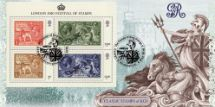 08.05.2010 Festival of Stamps: Miniature Sheet Britannia and Seahorses Bradbury, BFDC No.79
