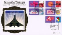08.05.2010 Festival of Stamps: Keep Smiling Generic Sheet Concorde Benham, BLCS Special No.29