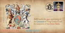 23.08.2011 The Crown Jewels Charles II Coat of Arms Bradbury, BFDC No.139