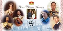 21.04.2011 Royal Wedding: Miniature Sheet The Ancestry of Prince William Bradbury, BFDC No.113