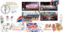27.09.2012 Memories of London 2012: Miniature Sheet Putting the Great back into Britain Bradbury, BFDC No.198