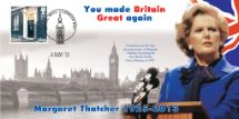 04.05.2013 Margaret Thatcher You made Britain Great again Bradbury, BFDC No.230