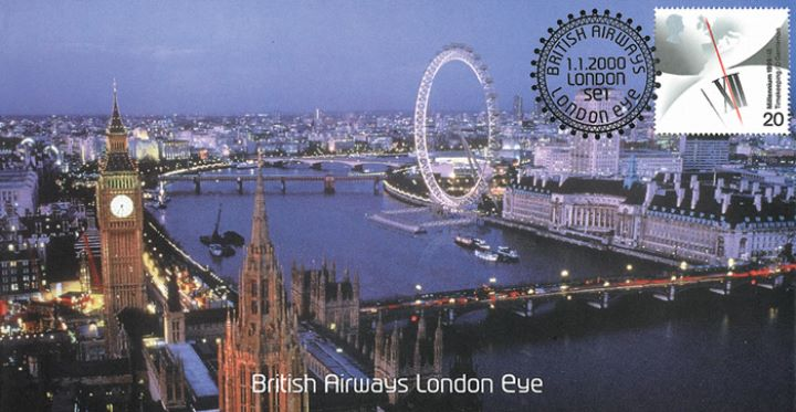 London Eye With View Of Big Ben First Day Cover Bfdc