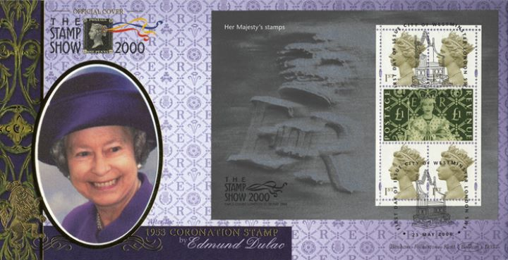 Queen's Stamps: Miniature Sheet, Purple Outfit