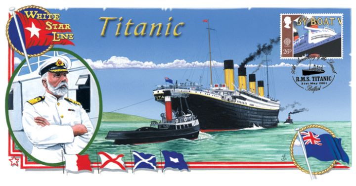 Launch of the Titanic, 90th Anniversary Cover