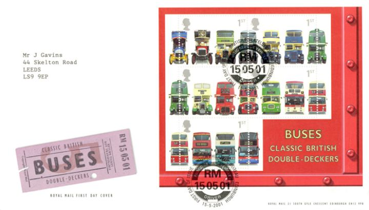 Double Decker Buses: Miniature Sheet, Bus Ticket