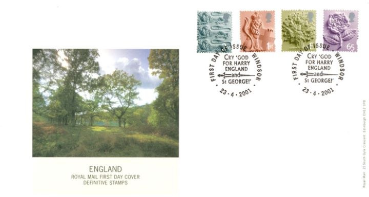 England 2nd, 1st, E, 65p, English Countryside