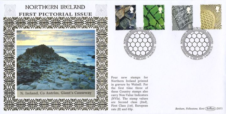Northern Ireland 2nd, 1st, E, 65p, Giant's Causeway