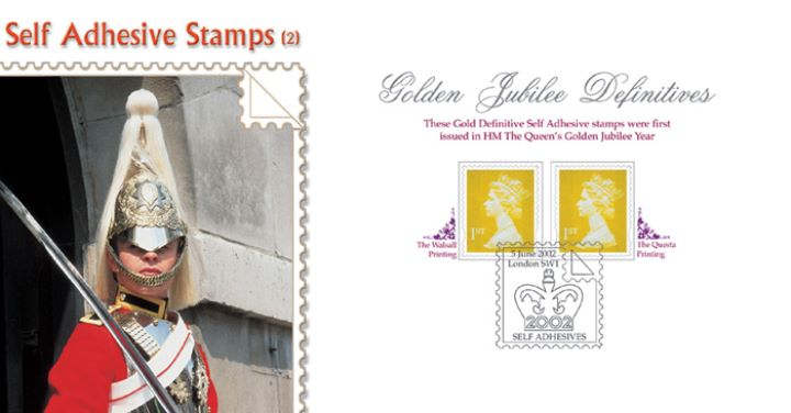 Machins (EP): Gold Stamps: 1st Self Adhesive, Horse Guards Parade