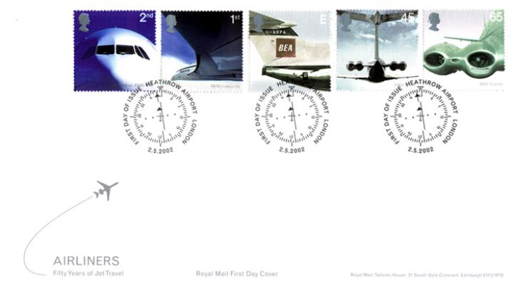 Airliners: Stamps, Fifty Years of Jet Travel