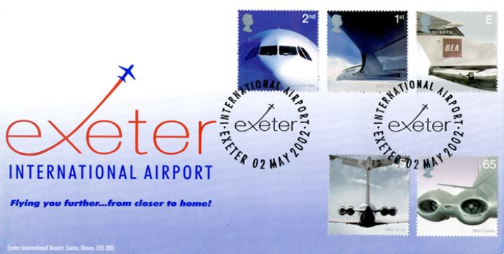 Airliners: Stamps, Exeter International Airport
