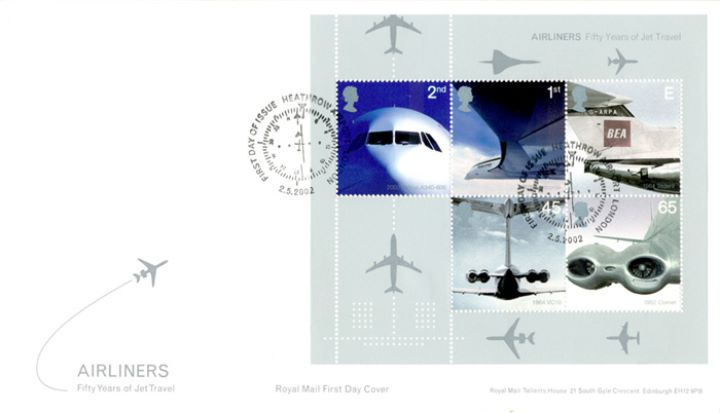 Airliners: Miniature Sheet, Fifty Years of Jet Travel