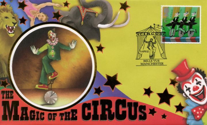 Circus, Clown on unicycle