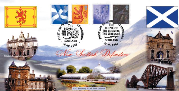 Scotland (white borders) 2nd, 1st, E, 68p, Scottish Views