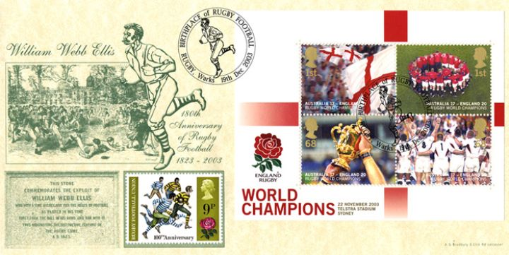 Rugby World Cup: Miniature Sheet, William Webb Ellis