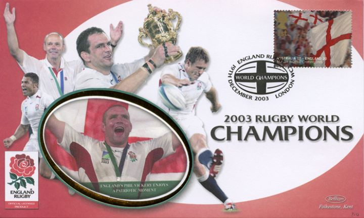 Rugby World Cup: Miniature Sheet, Phil Vickery enjoys a patriotic moment