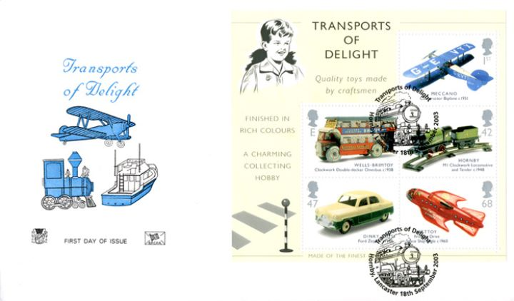 Transports of Delight: Miniature Sheet, Plane, Boat and Train