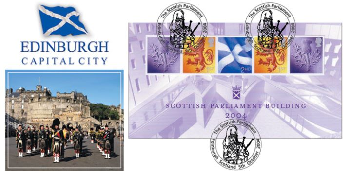 Scottish Parliament: Miniature Sheet, Edinburgh Capital City