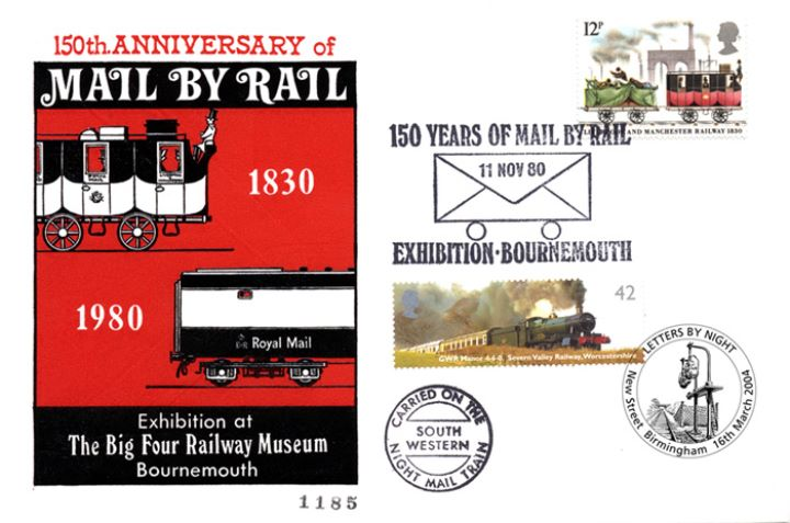 Mail by Rail, Double Dated Cover