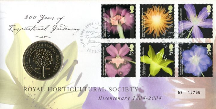 Royal Horticultural Society, Medal Cover