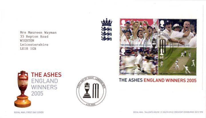 Cricket: Miniature Sheet, The Ashes