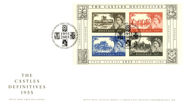 Castles: Miniature Sheet, Country Emblems Embossing