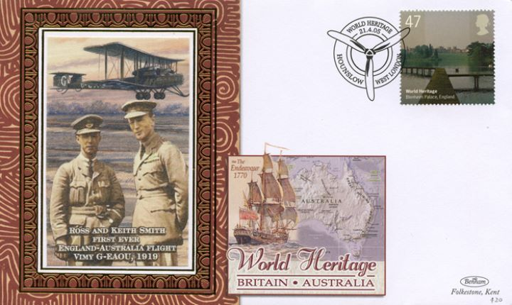 World Heritage Sites, First England-Australia Flight