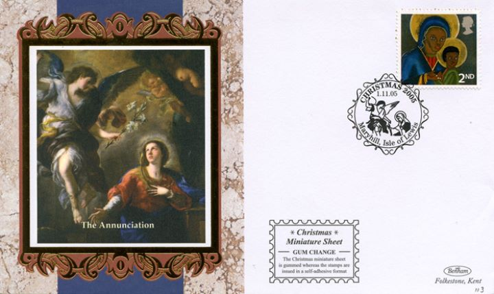 Christmas 2005: Miniature Sheet, The Annunciation
