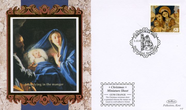 Christmas 2005: Miniature Sheet, Jesus in the Manger